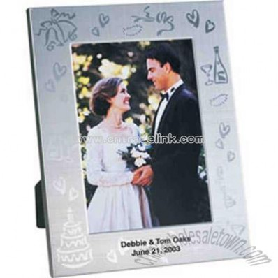 Wedding collection metal frame with wedding party decoration