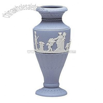 Wedgwood Blue Jasper Fluted Vase