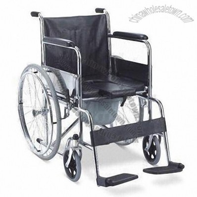 Wheelchair with Foldable Chromed Steel Frame