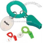 Whistle keychain wristband