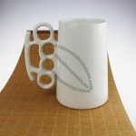 White Ceramic Boxing Beer Mug