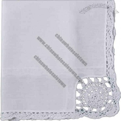 White Crochet Tea Napkin