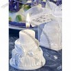 White Environment Friendly Wedding Cake Candles