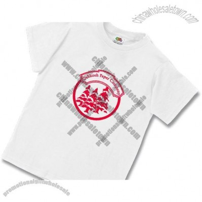 White Fruit of the Loom Best 50/50 Youth T-shirt