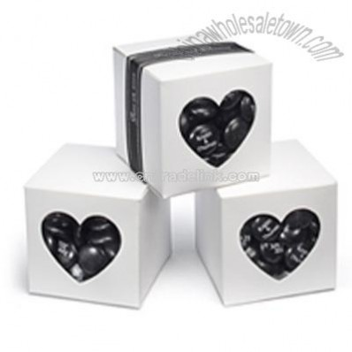 White Heart-shaped Window Favor Boxes