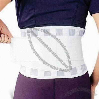 White Waist Belt with 8-inch Height, Relieves Back Pain Caused by Incorrect Posture