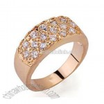 Whoelsale Jewelry 3mm White CZ Gold Plated Copper Ring