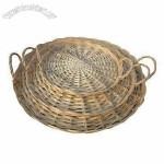 Wicker Trays With Natural Growth