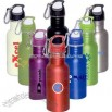Wide mouth stainless steel water bottle with carabiner 500 ml (16 oz.)
