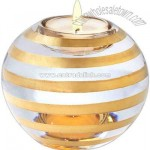 Wide votive with gold stripes