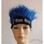 Wig with head band is made of dacron and lint.