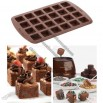 Wilton 24-Cavity Silicone Brownie-Squares Baking Mold