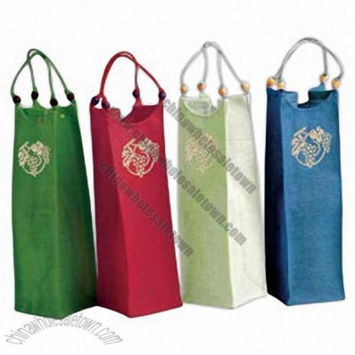 Wine Bags with Beads/Embossing