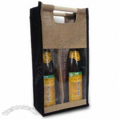 Wine Bottle Jute Bag