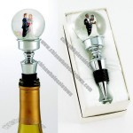Wine Bottle Stopper - Bride and Groom