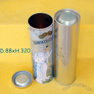 Wine Bottle Tin Box