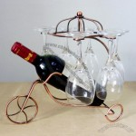 Wine Bottle and Goblet Holder in War Chariot Shaped