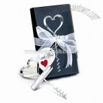 Wine Corkscrew with Heart Shaped Head for Wedding Gift Purposes