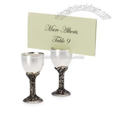 Wine Goblet Place Card Holders