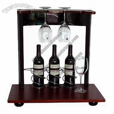 Wine Rack for Desktop with Glass Holder