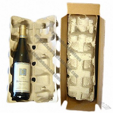 Wine Shipper - 1 pack, Recycled Pulp Tray includes Box
