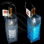 Wine Tote Cool Sack Gel Filled Freeze and Go 4-sided Ice