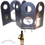 Wine pourer disc in a customized (both sides) Tri Fold bottle neck hanger