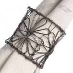 Wire Flower Napkin Ring