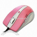 Wired Pink Optical Mouse