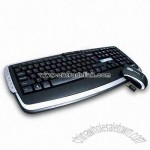 Wireless Desktop Set with Deluxe Multimedia Keyboard