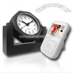 Wireless Video Camera Alarm Clock + Receiver with LCD Display Screen