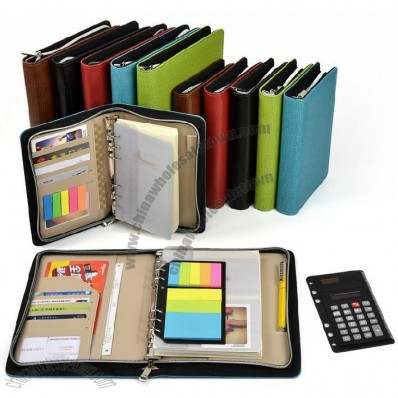With Zipper Loose-leaf Notebook Portfolio