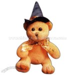 With hat - Seasonal plush Halloween bear