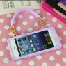 Woman Handbag Silicone Case for Apple iPhone 5