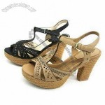 Women's Casual Sandals, Made of PU and Leather