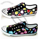 Women's Casual Shoes in Various Printings, with Canvas Upper and Rubber Outsole