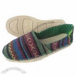 Women's Espadrille Canvas Shoes, Colorful Canvas Upper with Softer Rubber EVA Outsole