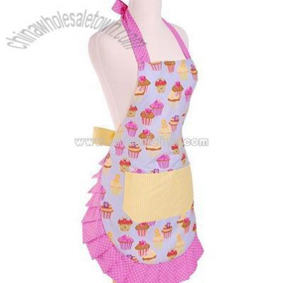Women's Frosted Cupcake Apron