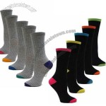Women's Heel Crew Socks - In Grey Or Black Color Size 9-11