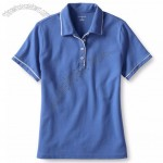 Women's Piped Collar Mesh Polo