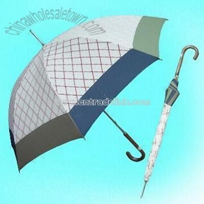 Women's Printed Umbrella with Contrast Hemming