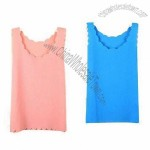 Women's Tank Tops, Falbala Collar, Chiffon Fabric
