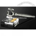 Women's acrylic gavel with sound block set.