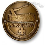 Wood Badge Log and Axe Hiking Stick Medallion