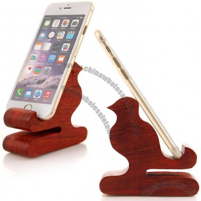 Wood Bird Cell Phone Holder Stand