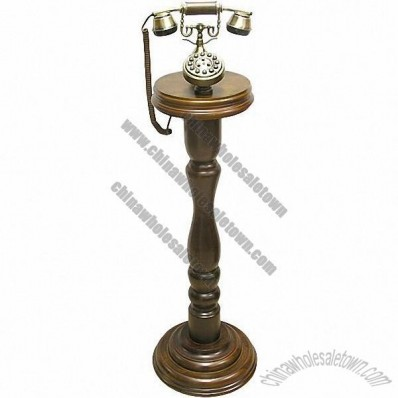 Wood Floor Antique Telephone