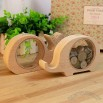 Wood Mini Coin Piggy Bank with Clear Window