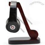 Wood Music Notes Headphone Holder