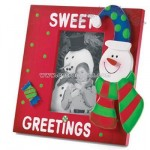 Wood Snowman Photo Frame