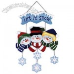 Wood Snowman Wall Plaque